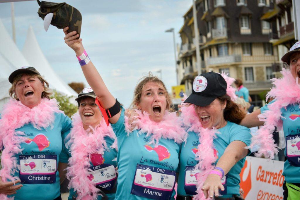 La joie d'avoir couru 7km avec ses copines