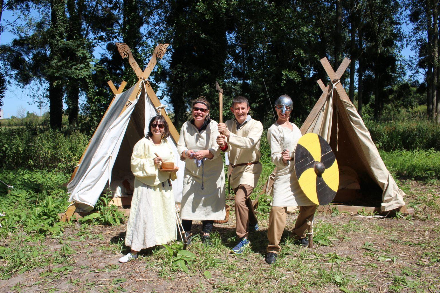 Vikings-team-building-cohesion-orne-normandie-drakkar-deguisement-relais