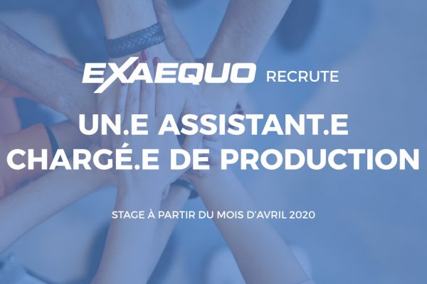 Exaequo communication recrute stage communication production