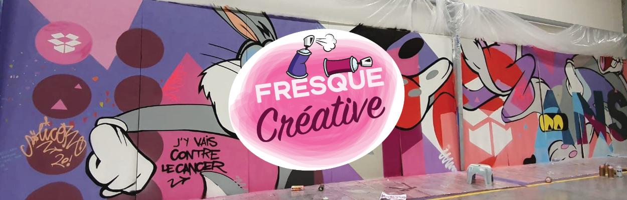 Fresque créative dessin graffiti peinture créativité cohésion valeurs entreprise