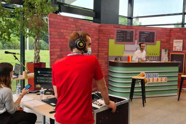 Animation team building Burger Quizz questions animées
