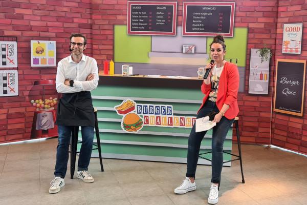 Animations Société Générale Burger Challenge Exaequo jeu Twitch